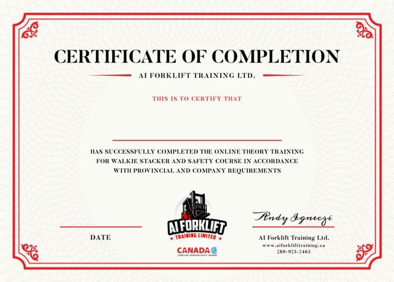 Online-Walkie-Stacker-Certificate-official